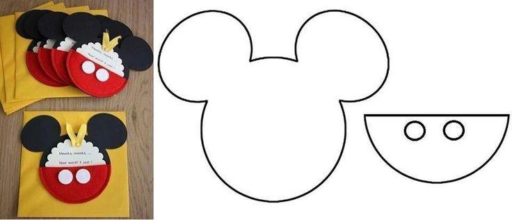 Invitacion sencilla de mickey mouse