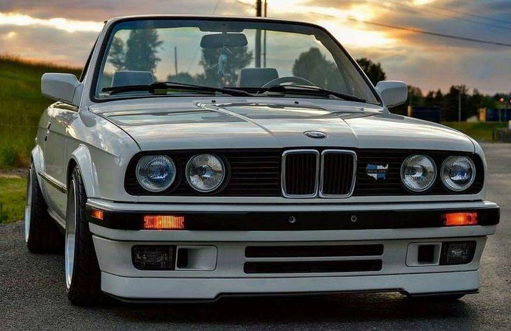 BMW E30 3 series cabrio white
