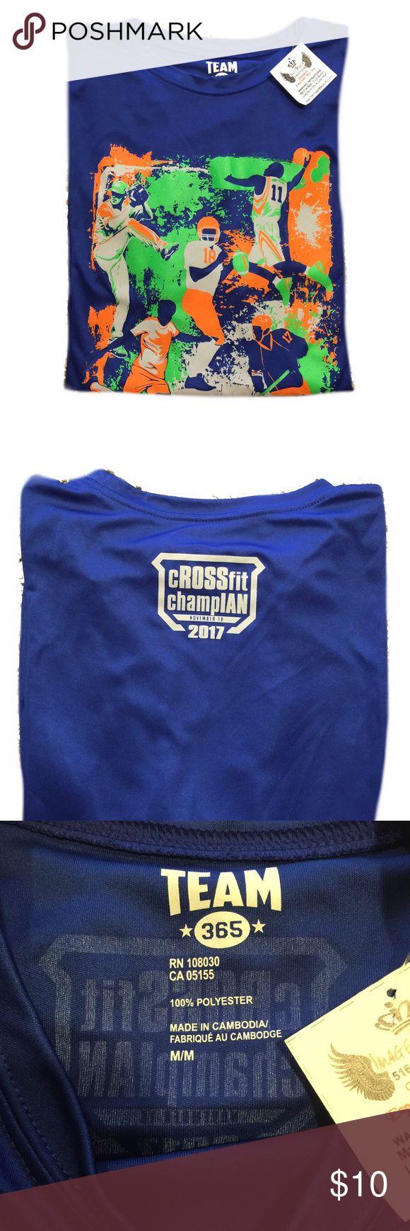 Custom print dry fit t-shirt Custom print of football basketball baseball soccer and hockey. team 365 Shirts Tees - Short Sleeve