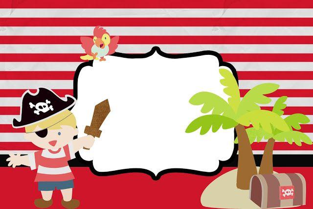 Pirata Menino – Kit Completo com molduras para convites, rótulos para guloseimas, lembrancinhas e imagens!   Fazendo a Nossa Festa