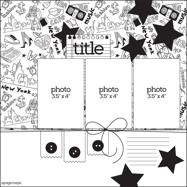 Préférence 824 best Scrapbook Layouts images on Pinterest | Scrapbook  FB47