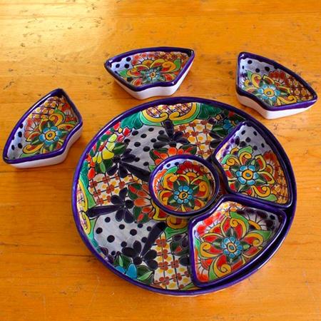 Gorgeous talavera appetizer platter