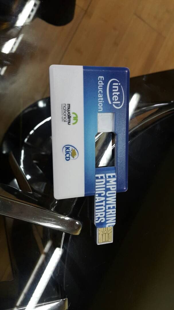 Intel ask Carausb to bespoke card USB flash disk gift as promotion usage