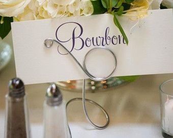 Wedding Table Markers, Name Number Holders, 2pcs