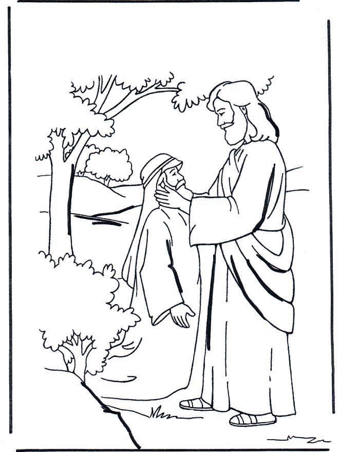 bible coloring pages new testament jesus heals