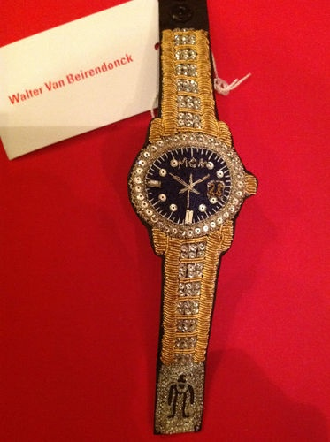 "Walter Van Beirendonck buillion embroidery ""watch"""
