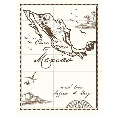 antique map of mexico for a mexico wedding