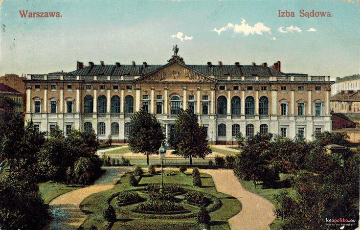Pałac Krasińskich ( Sąd Najwyższy, Pałac Rzeczypospolitej), Warszawa - 1907 rok, stare zdjęcia