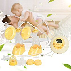 Comfort Dual-Core Bilateral Electric Breastpumps - Advanced Dual-core Double Side Large LCD Screen with US Plug - By Duomishu