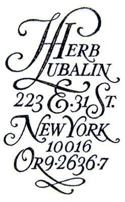 Gorgeous old typography, Herb Lubalin. (no other details)