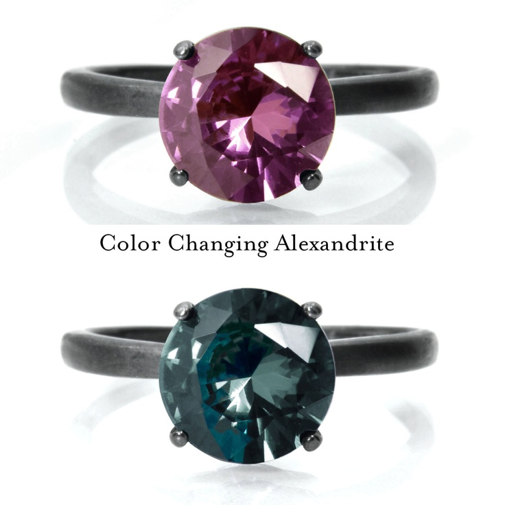 Alexandrite Ring, Color Changing Alexandrite and Sterling Silver Ring. From Abish Essentials on Etsy.com