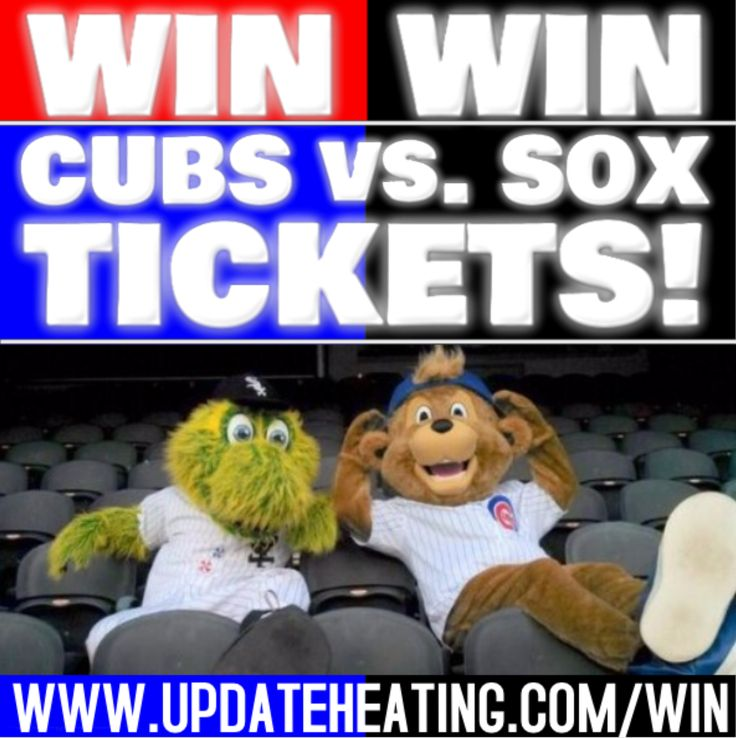 UPDATE HEATING and COOLING SERVICES  Enter to win FREE Cubs Vs. White Sox Tickets When you schedule one of the following!! (see below)  SCHEDULE AN AIR CONDITIONING TUNE UP SCHEDULE A DUCT CLEANING SCHEDULE MAINTENANCE SCHEDULE A NEW FURNACE AND AIR CONDITIONER INSTALLATION!  Winner will be announced June 1st, 2017 for one of the following games!   MON.   July 24th- Chicago White Sox at Chicago Cubs (Wrigley Field) 1:20pm TUES.  July 25th- Chicago White Sox at Chicago Cubs (Wrigley Field)…
