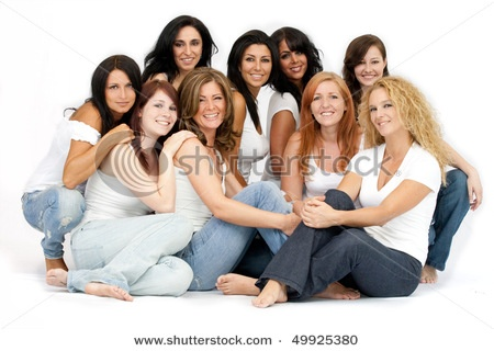 Posing idea for lots of adults (or a family of teenage children)