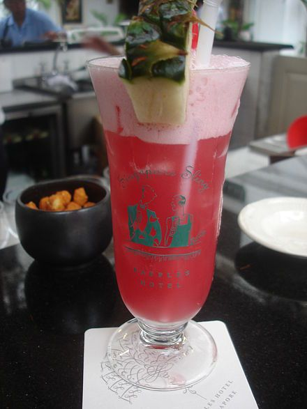 Singapore Sling at the Raffles Hotel......awesome