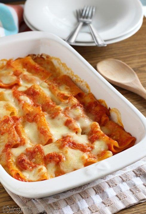 Paccheri in salsa rosa e mozzarella filante Dulcisss in forno by Leyla