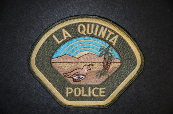 La Quinta Police Patch, Riverside County Sheriff Contract Agency, Riverside County, California (Current 1998 Issue)