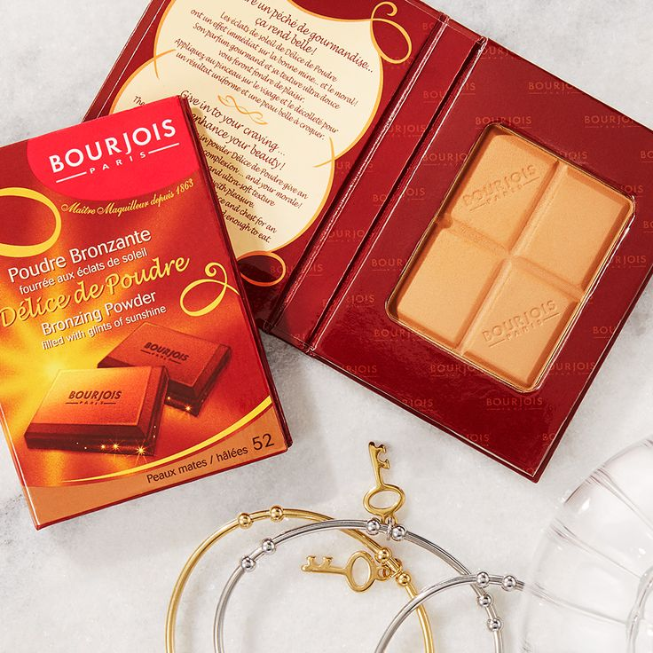 Bring your sunshine on the go with Bourjois' Bronzer. Illuminate with two stunning powders that mix chocolate and flecks of gold for two different glowing looks.  #bronzer #BourjoisBronzer #makeup