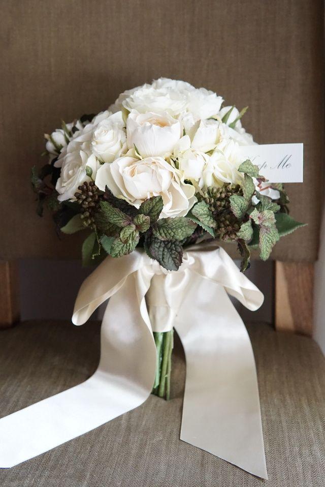 Bouquet Alyssa:ブラックミント&ローズのブーケ&ブートニア