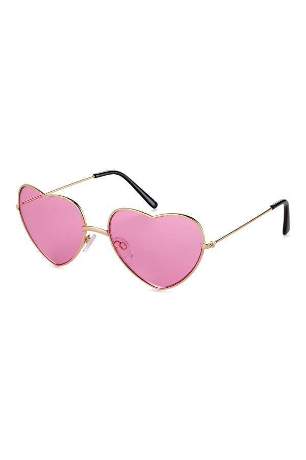 7c6f5c2823 H&M Heart-shaped Sunglasses - Gold-colored/pink - Women   Feminine ...
