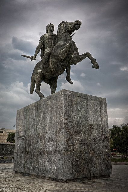 Alexander The Great in Thessaloniki, the city that has developed as today's capital of Macedonia from the near Pella. However, Macedonia is not a state anymore but just a geographical denotation of a region extending from Nord Greece to FYROM and to sourth Bulgaria. Philipoupolis f.ex. (nowadays Plovdiv in central Bulgaria) is the city built by Philip, the father of Alexander.