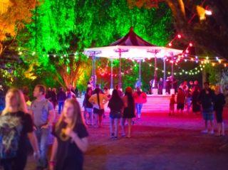 The Band Rotunda all lit up during the 2013/14 TSB Bank Festival of Lights at Pukekura Park., New Plymouth, Taranaki NZ