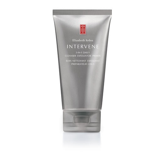 ELIZABETH ARDEN Intervene 3-IN-1 Daily Cleanser Exfoliator Primer | Multi-tasking water-based foaming cleanser purifies, exfoliates and primes, leaving skin lustrous and glowing. | *discontinued*