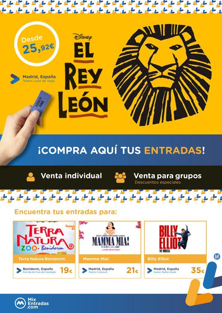 Entradas para el musical El Rey León desde 25,92€ | ¡Novedad! Terra Natura Benidorm y muchos más te esperan.