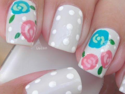 Nail Art - Winter Rose - Decoracion de Uñas - Rosa de Invierno
