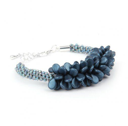Blue Coral Kumihimo Bracelet