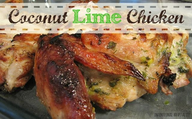 Coconut Lime Chicken | Tropical flavors make these marinated bbq wings ...