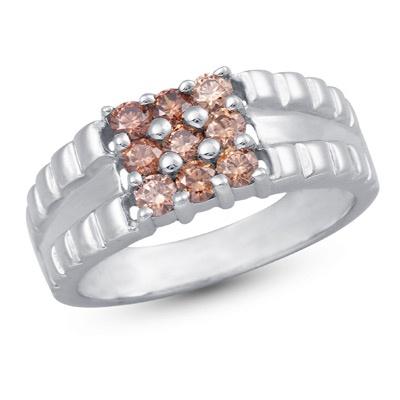 Nirupam Ring: Rs.2,311    #ring #silver #swarovski #mens