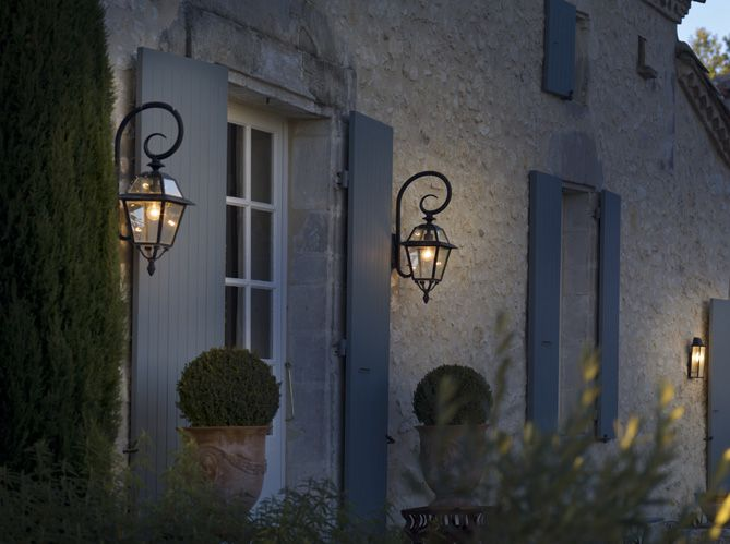 Fabulously French Exterior Shutter Urns And Topiary Heaven