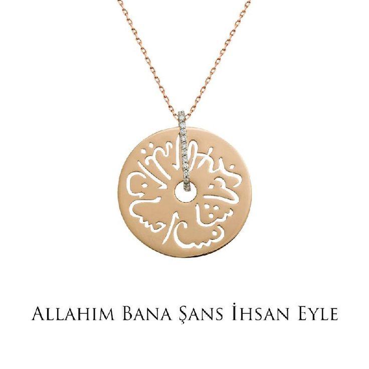 Ramazan ayında tüm dualarımız sevdiklerimiz için... Altın Seb'a Kolye - Allah'ım bana şans ihsan eyle!