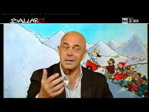 """▶ Ballarò - Maurizio Crozza """"Gasparri è rassicurante come avere un acquario, non serve a niente, ma arreda"""" - YouTube"""