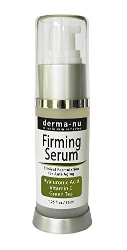 cool Hyaluronic Acid Serum By Derma-nu - Advanced Clinically Proven Formulation - Organic Facial Firming Serum- Best Anti Aging Facial Firming Serum for the Skin - The Most Effective Anti Wrinkle Serum - Pure HA Serum Enriched with Vitamin C + Vitamin E + Green Tea - Feel It Firming and Toning Your Face Instantly - It Is Truly a Facelift in a Bottle - This Hyaluronic Acid Serum Will Hydrate & Plump Dull Skin Filling Fine Lines & Wrinkles - 100% Satisfaction Guaranteed - 1.25oz Bottle