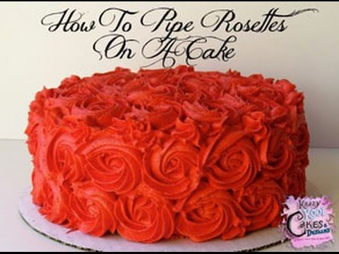 How To Pipe Rosettes On A Cake, My Crafts and DIY Projects