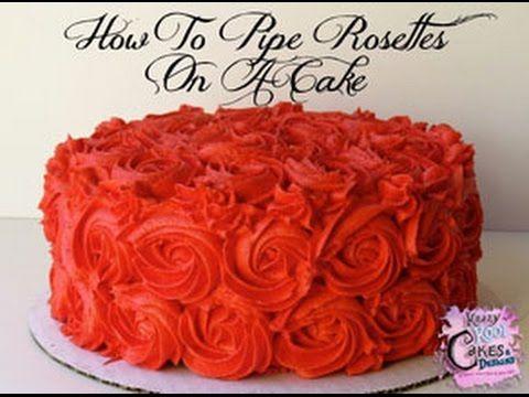 How To Make Easy Buttercream Rosettes Cake Decorating