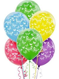 Butterfly Balloons 6ct - Party City