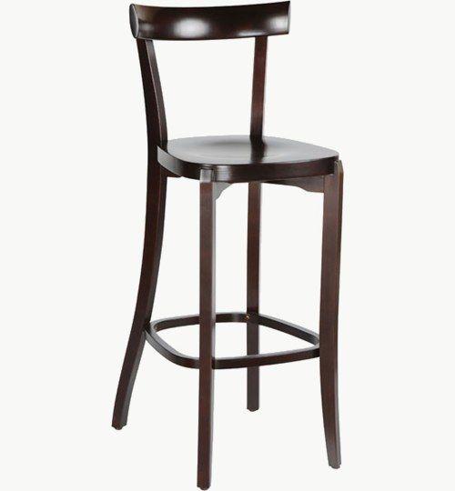 Barstol i trä som går att få med stoppad sits, många tyger att välja på. Ingår i en serie med stol. Barstolen är tillverkad i trä med bets samt med ett sittskal som går att få stoppat/klätt. Stolen väger 5,6 kg, vilket är en lätt för att vara en barstol. Tyg Lido 100 % polyester, brandklassad. Tyg Luxury, 100 % polyester, brandklassad. Konstläder Pisa, brandklassad, 88,5% PVC, 11,5% polyester.