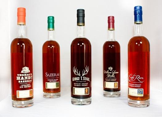 Sazerac Rye 18 Year Old, Eagle Rare 17 Year Old Bourbon, George T. Stagg Bourbon, William Larue Weller Bourbon, Thomas H. Handy Sazerac Rye