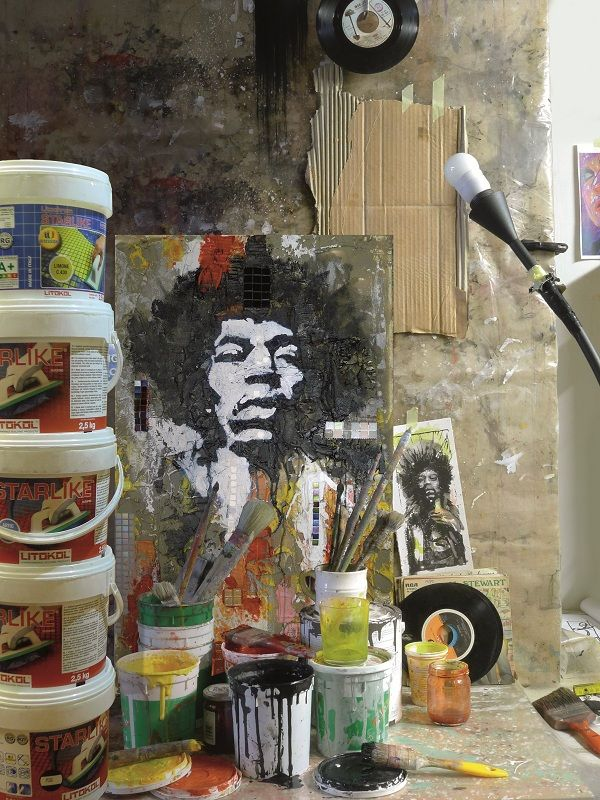 #starlike #art #music #litokol #portrait #hendrix