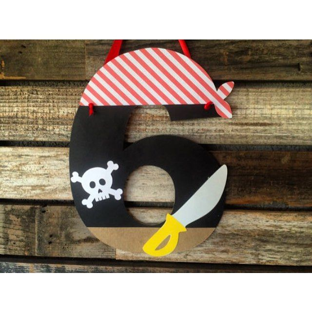 New pirate party age sign. #etsy #etsyshop #etsyseller #blueoakcreations #papergoods #pirate #kids #kidsparty #partyplanner #craftymomma See More Goodies at: www.blueoakcreations.com