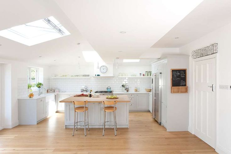 Carmel and Jan Rashid have extended their three bedroom semi-detached home to create an elegant open-plan space with a classic kitchen that's perfect for the whole family