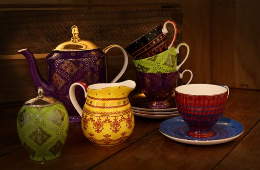 Sari | T2 Tea . . . Amazing tea set. bright colourful and makes you happy every time you take it out. (SOOOOO WANT!)