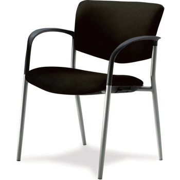 The graceful design is decidedly supportive. A flowing arm design merges with the durable metallic silver frame. This generously-proportioned chair delivers comfortable sitting for everybody. The Quincy Side Chair is the perfect choice for guest or conference seating.