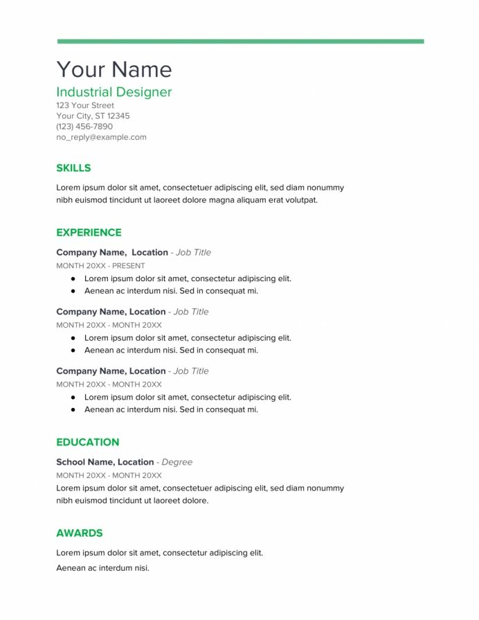 Google Doc Resume Template Free Download Drive Templates