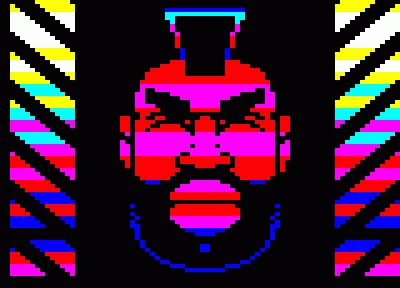 Stay away from my bins!  Mr T at the International Teletext Art Festival 2012, not quite the same as the Digitiser version of him...