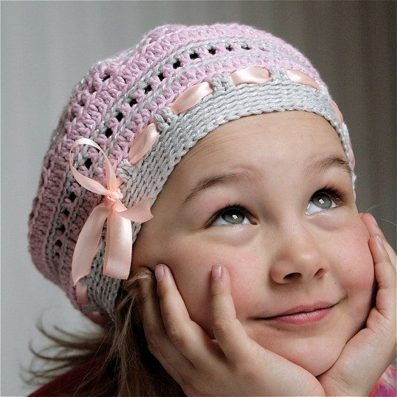 PDF pattern for Crocheted beret style hat for kids (3-6 yo). $3.95, via Etsy.
