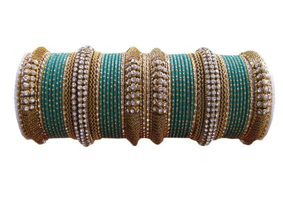 Green #Designer #Bangles Indian #Bracelet Set  For by Shoppingover
