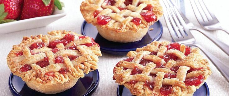 Made in muffin cups, our mini strawberry and rhubarb pies capture all the goodness of a country fair. To save time, we used Pillsbury refrigerated pie crusts.